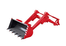 Big red excavator grab Royalty Free Stock Images