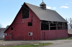 Big Red farm barn Royalty Free Stock Images