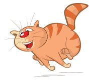 Illustration of a Cute Cat. Cartoon Character royalty free illustration