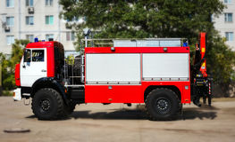 Big red fire truck. Stock Photos