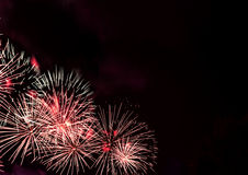 Big red fireworks Royalty Free Stock Photography