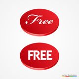Big red free button Stock Images