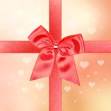 Big red gift bow Royalty Free Stock Photo