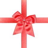 Big red gift bow Stock Images
