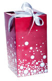 Big Red gift box. Red gift box with a ribbon  white Stock Photos