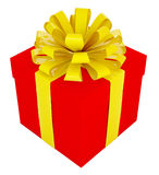 Big red gift box Royalty Free Stock Images