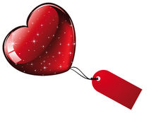 Big red glittering heart Royalty Free Stock Image