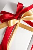 Big red, gold bow Royalty Free Stock Photography