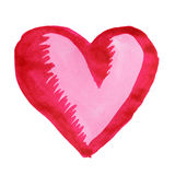Big red heart. Painting of big red heart over white background Royalty Free Stock Image