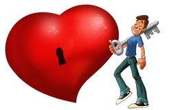 The big red heart Royalty Free Stock Image