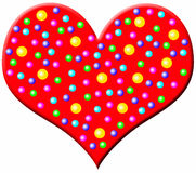 Big red heart Stock Photos