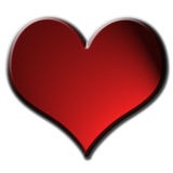 Big Red Heart. Large soft-edged red heart vector illustration