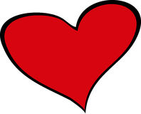 Big red heart. Love sign Stock Images