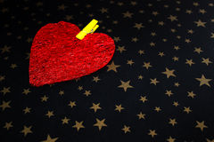Big red heart Royalty Free Stock Image