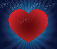 Big red heart Royalty Free Stock Photo
