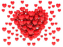 Big red heart consisting of small hearts Royalty Free Stock Photo