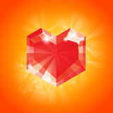 Big Red Heart Royalty Free Stock Photography