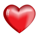 Big red heart with highlights. Large volume red heart with reflections and illuminated sides. Gift for Valentines day Royalty Free Stock Image