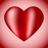 Big red heart with highlights. Large volume red heart with reflections and illuminated sides. Gift for Valentines day Royalty Free Stock Photos