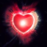 Big Red Heart - light burst Royalty Free Stock Photos