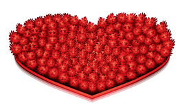 Big Red Heart. Lovely big red heart.vector stock illustration