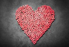 Big red heart made from little hearts royalty free stock images