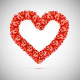 Big red heart made up of small hearts Royalty Free Stock Images