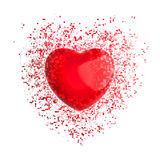 Big red heart - pixel explosion Royalty Free Stock Photography