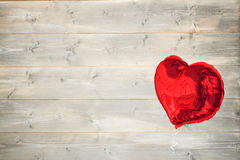 Big red heart shaped balloon Royalty Free Stock Image