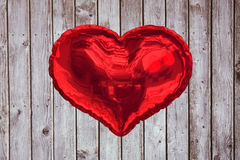 Big red heart shaped balloon Royalty Free Stock Photography