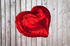 Big red heart shaped balloon Royalty Free Stock Photos