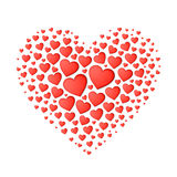 Big red heart from small ones Royalty Free Stock Photos