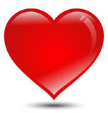 Big Red Heart on White Background Stock Image