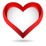 Big red heart on white background Royalty Free Stock Photos