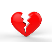 Big red heartbreak shapes Royalty Free Stock Photo
