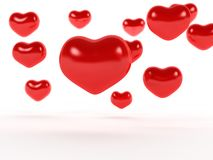 Big red hearts №1 Royalty Free Stock Image