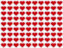 Big Red Hearts Seamless Background Royalty Free Stock Image