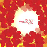 Big Red Hearts, Vector Illustration, valentine`s day Stock Images