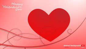Big Red Hearts, Vector Illustration, valentine`s day Stock Image
