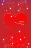Big Red Hearts, Vector Illustration, valentine`s day Royalty Free Stock Photos