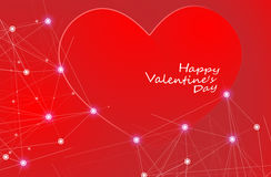 Big Red Hearts, Vector Illustration, valentine`s day Royalty Free Stock Images