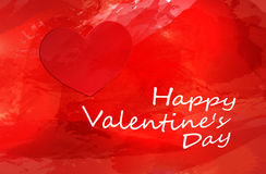 Big Red Hearts, Vector Illustration, valentine`s day Stock Photography