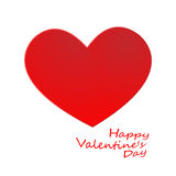 Big Red Hearts, Vector Illustration, valentine`s day Royalty Free Stock Photography