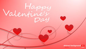 Big Red Hearts, Vector Illustration, valentine`s day Royalty Free Stock Photo