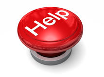 Big Red Help Button Royalty Free Stock Photos