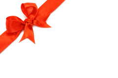Big red holiday bow Royalty Free Stock Images
