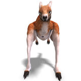 Big red kangaroo Stock Image