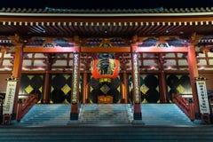 The Big red Lantern at Senso-ji temple. royalty free stock photo