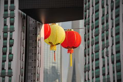 Big red lanterns Royalty Free Stock Images