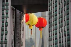 Big red lanterns Royalty Free Stock Images